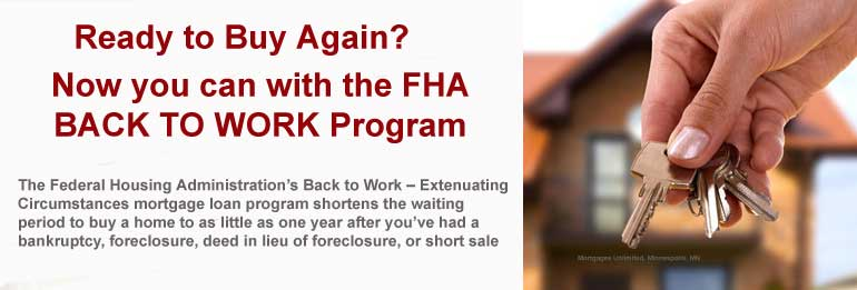 FHA BAck to Work Program in MN and WI